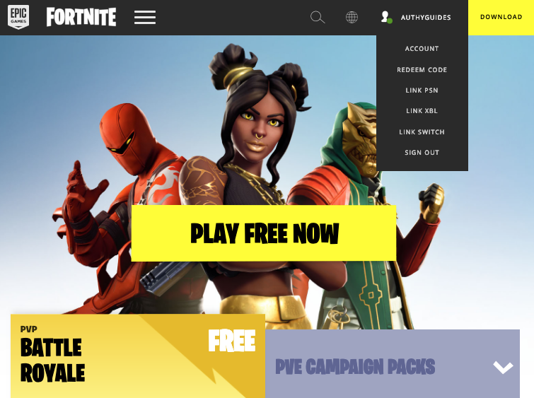 Fortnite/Epic Games - Authy
